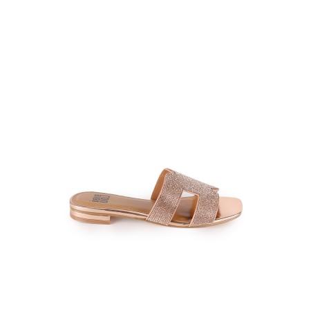 Sandales Plates Blanca Bibi...