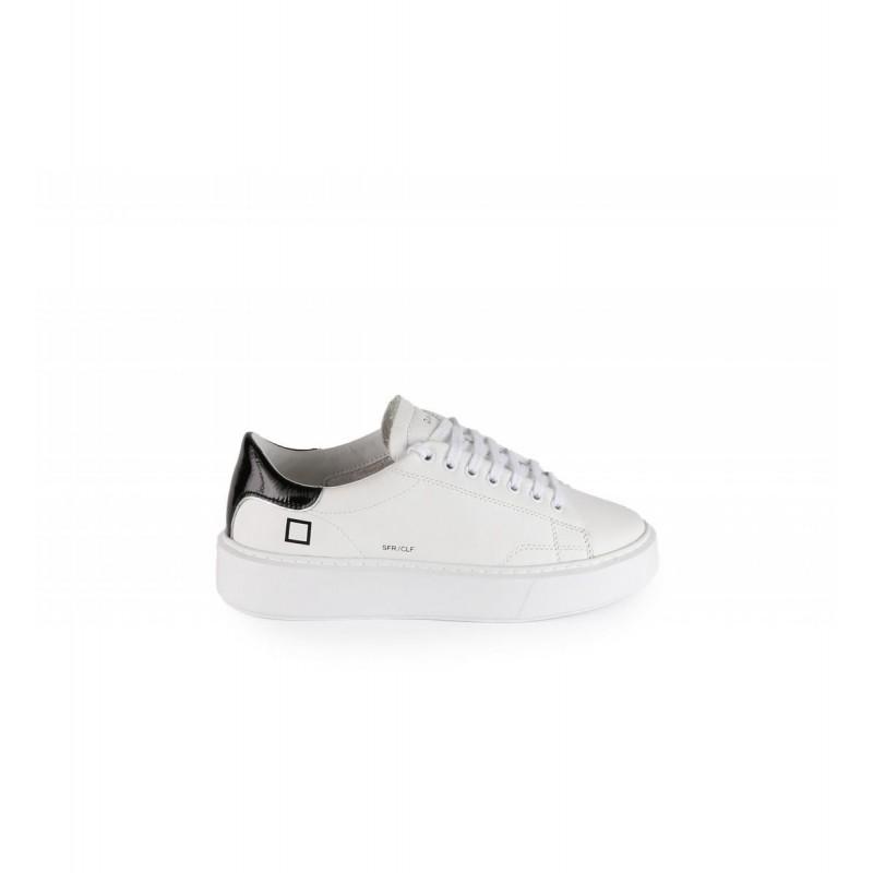 Sneakers CALF WHITE BLACK-D.A.T.E.